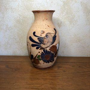 Tonala Mexico bird vase